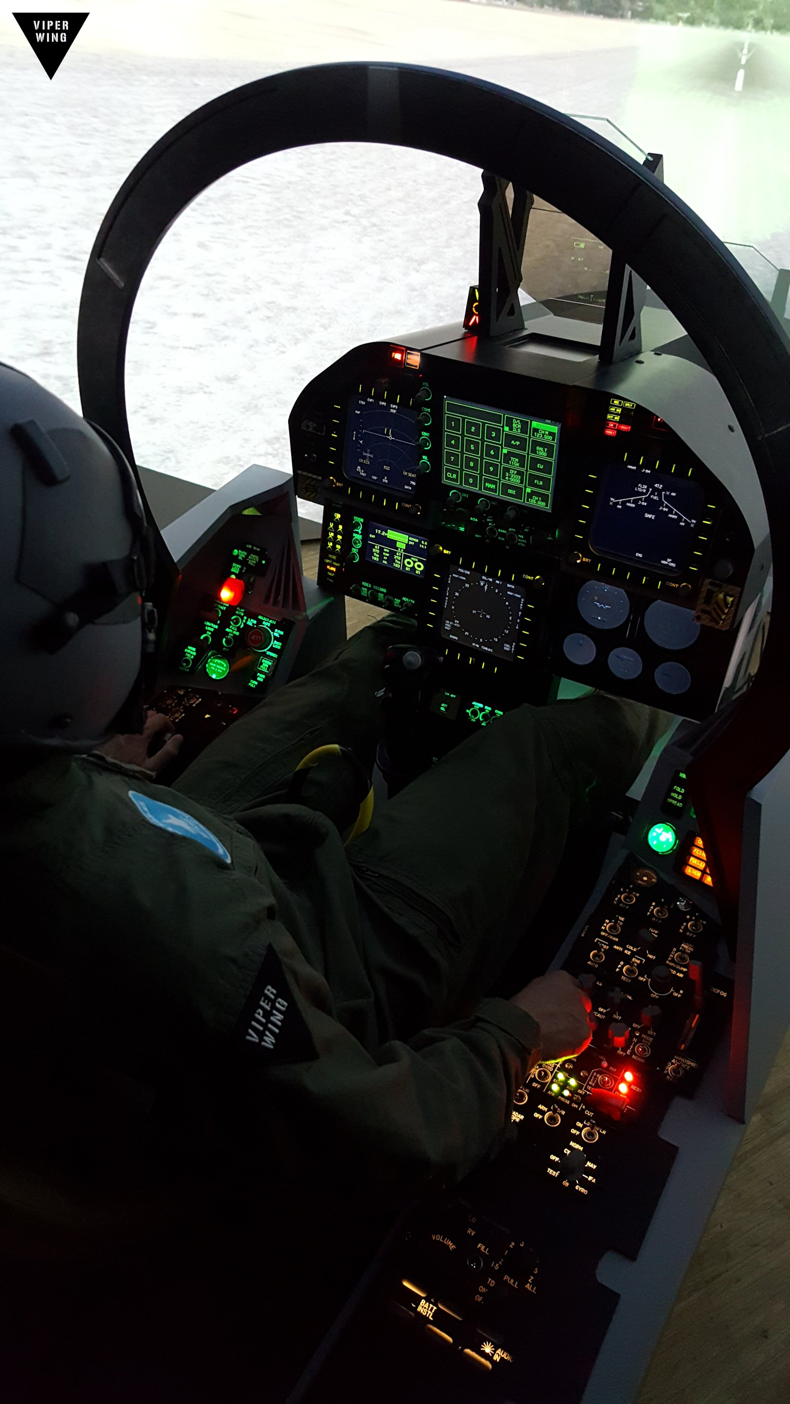 F 18 F A 18 Simulator Fighter Jet Cockpit All Physical