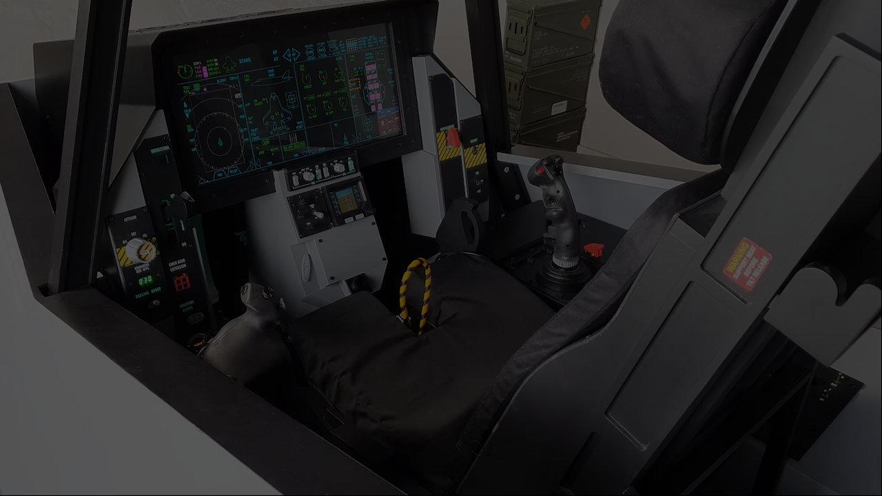 F-35 cockpit simulator video presentation