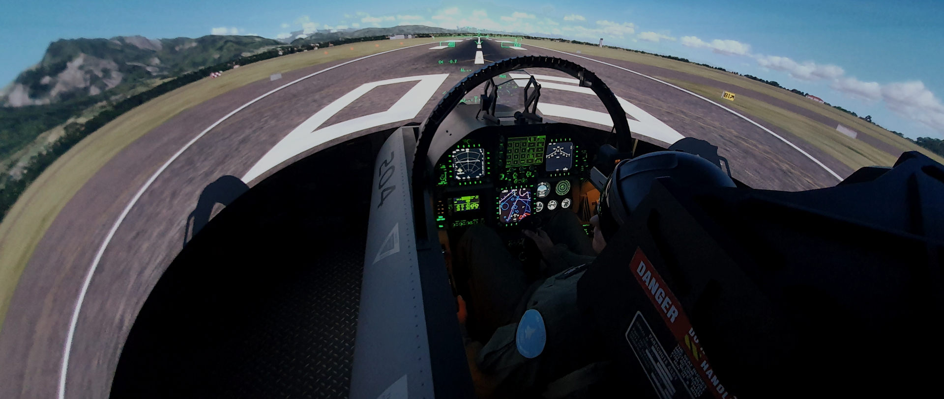 Turnkey F-18 Fighter Jet Simulator in 8 weeks