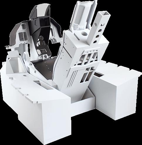 F-16 inspired cockpit frame