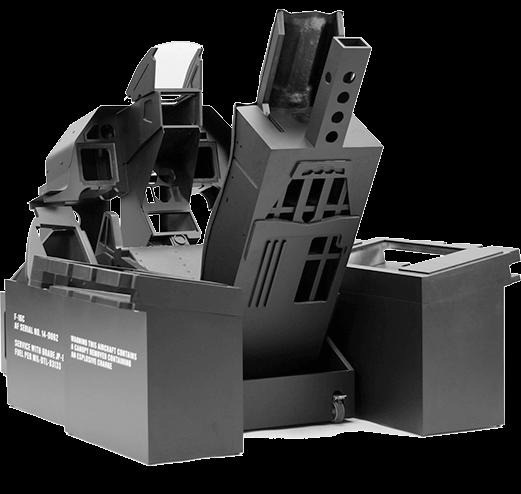 F-16 inspired cockpit ghost frame