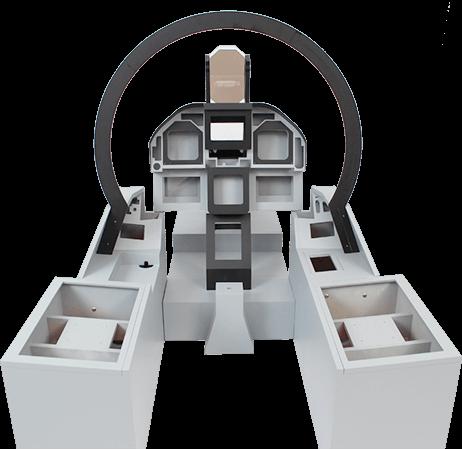 F-18 inspired cockpit frame