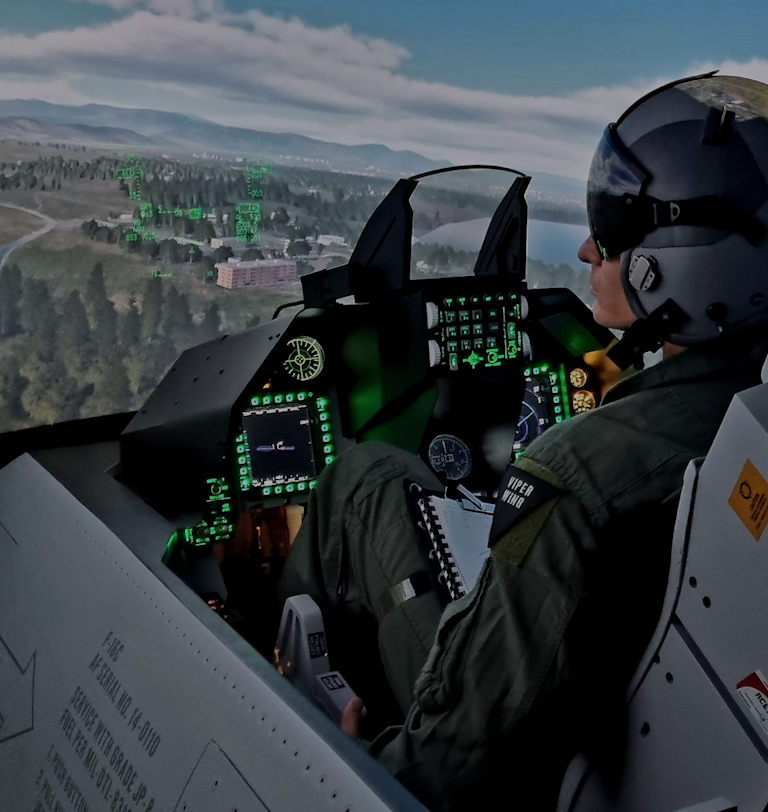 Fastest delivered, cost-effective F-16 fighter jet simulator cockpit